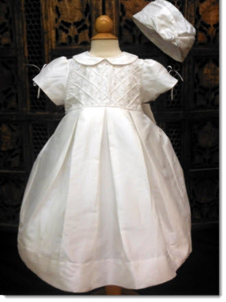 12305 Silk Christening Dress Set - Little Angels Couture - 1