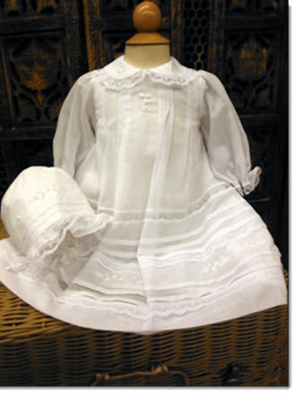 16024 Precious Short Christening Dress - Little Angels Couture - 1