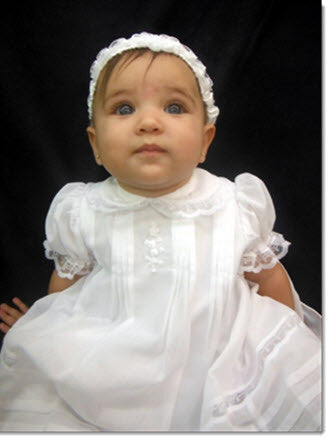 16024 Precious Short Christening Dress - Little Angels Couture - 2