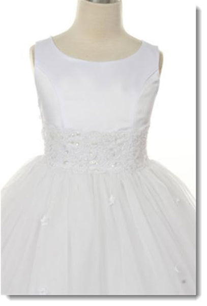 198 Lace Trim Tulle Dress