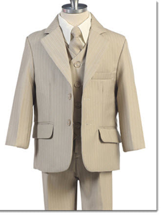 234 Boys 5 Piece Pinstripe Suit - Little Angels Couture - 3
