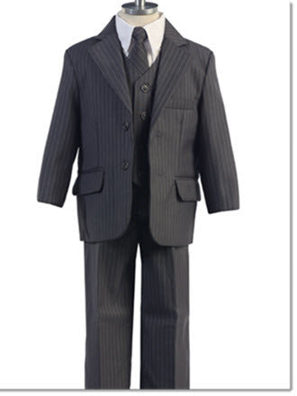 234 Boys 5 Piece Pinstripe Suit - Little Angels Couture - 2
