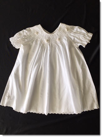 2994 Smocked Bishop  Christening Dress