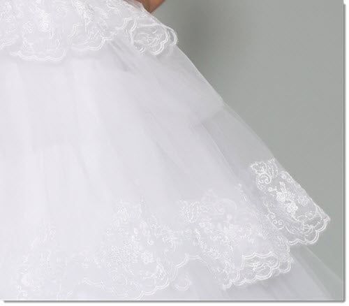 3044 Tulle and Lace Communion or Flower Girl Dress