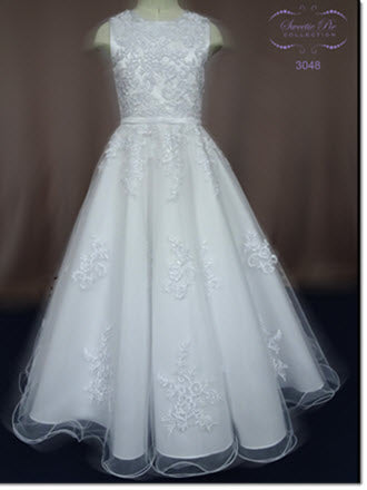 3048 Tulle Communion Dress