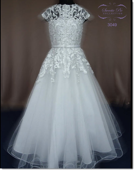 3049 Lace and Tulle Communion or Flower Girl Dress