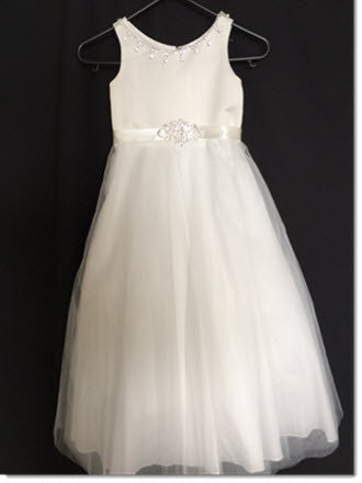 3411 - Satin and Tulle with Diamante