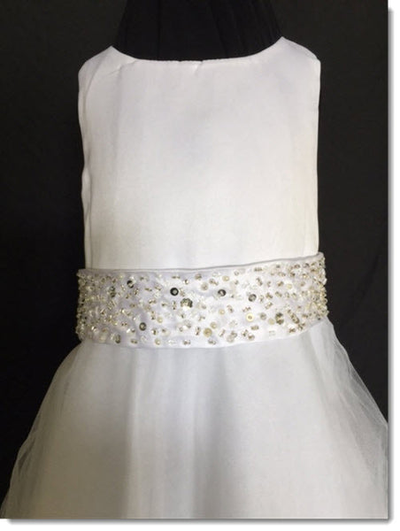 3411 white with Beaded Cluster belt