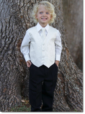 Boys 4 Piece Suit Hire - Little Angels Couture - 1