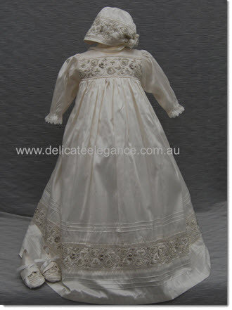 4157 Unisex Christening Gown - Little Angels Couture - 1