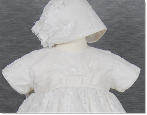 4241B  Girls lace Christening Dress