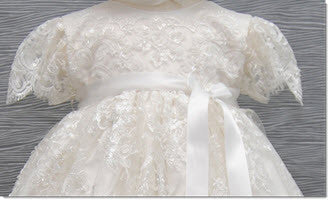 4249 Delicate Elegance Lace Girls' Christening  Dress - Little Angels Couture - 3