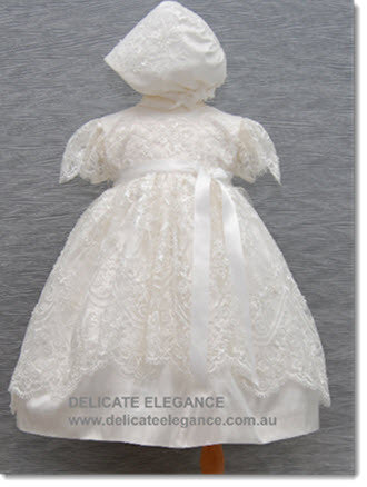 4249 Delicate Elegance Lace Girls' Christening  Dress - Little Angels Couture - 5