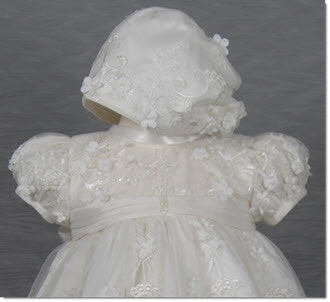 4268 (Ivory Lace): Girls' Christening Dress - Little Angels Couture - 4