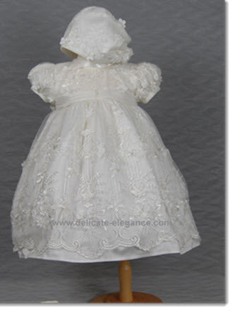 4268 (Ivory Lace): Girls' Christening Dress - Little Angels Couture - 2