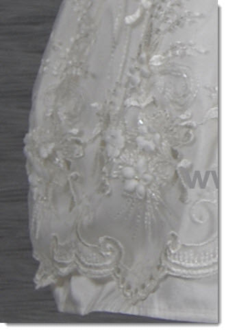 4268 (Ivory Lace): Girls' Christening Dress - Little Angels Couture - 3