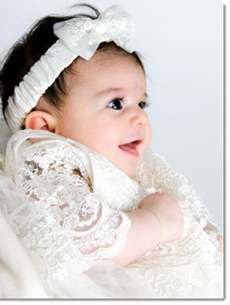 4290PD: Delicate Elegance Girls' Christening & Special Occasion Dress - Little Angels Couture - 1