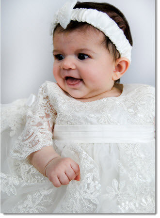 4290PD: Delicate Elegance Girls' Christening & Special Occasion Dress - Little Angels Couture - 8