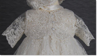 4290PD: Delicate Elegance Girls' Christening & Special Occasion Dress - Little Angels Couture - 5