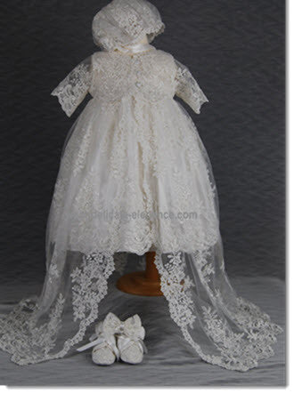 4290PD: Delicate Elegance Girls' Christening & Special Occasion Dress - Little Angels Couture - 2