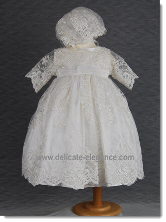 4290PD: Delicate Elegance Girls' Christening & Special Occasion Dress - Little Angels Couture - 3
