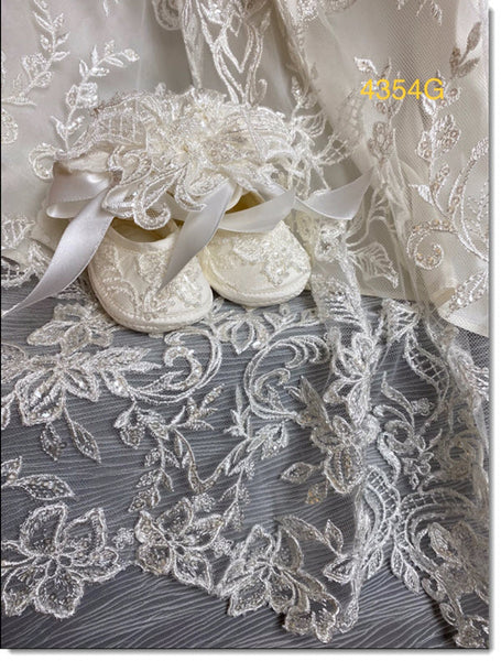 4354 G Lace Christening Gown