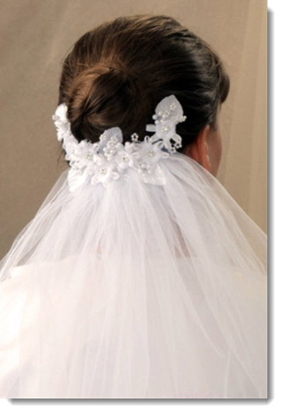 4359 First Communion Comb Veil Style Veil -  Morgan