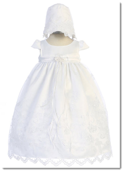 470 Cross Embroidered Christening Gown