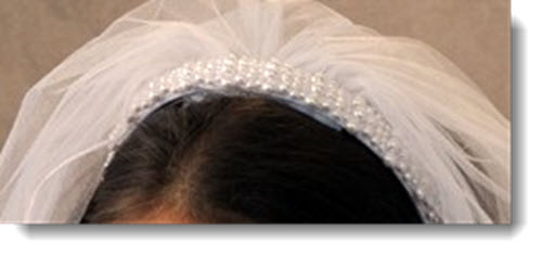 55 - Erika First Communion Headband Veil