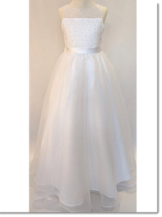 Chloe P 6126 COMMUNION/ FLOWER-GIRL DRESS