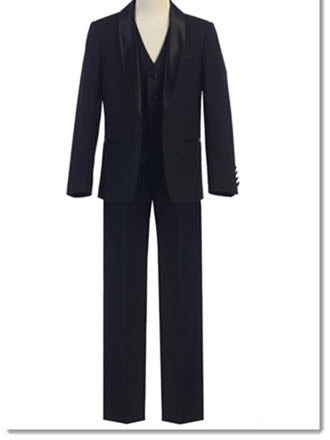 640 - Black Tailored Slim Fit Suit/Tuxedo -Black, Indigo Blue, Grey, Burgundy and White