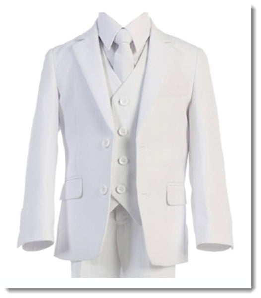 698 - White Suit. Slim Fit