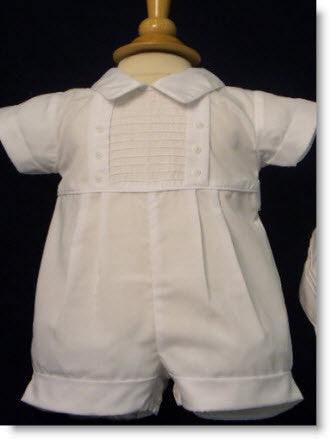 77297 White Romper With Hat Set - Little Angels Couture - 1