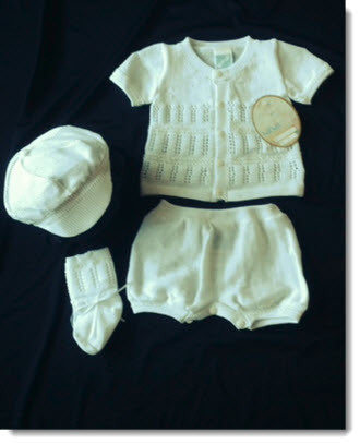 85462 Boys 4pc White Knit Set - Little Angels Couture - 3