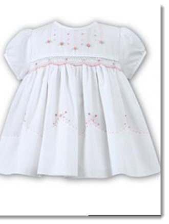 9680 Hand Smocked and Embroidered dress - Little Angels Couture - 2