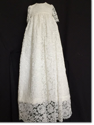Abbey Ivory Lace Christening Gown
