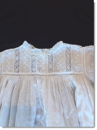 Antique Christening Gown Lace/Broiderie Anglais - Little Angels Couture - 3