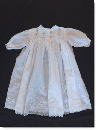 Antique Christening Gown Lace/Broiderie Anglais - Little Angels Couture - 1
