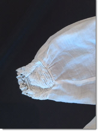 Antique Christening Gown Lace/Broiderie Anglais - Little Angels Couture - 2