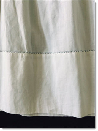Antique baby slips fine white linen - Little Angels Couture - 4