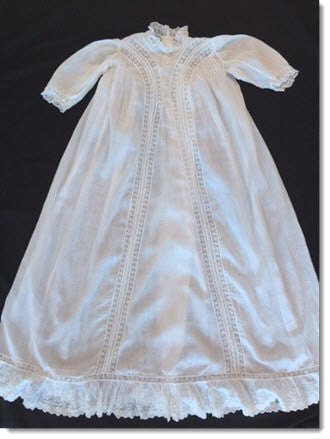 Absolutely Exquisite Antique Doll/Baby Christening Gown - Perfect!! - Little Angels Couture - 1