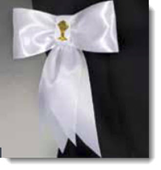 Armband Satin ribbon with Gold Chalice - Little Angels Couture