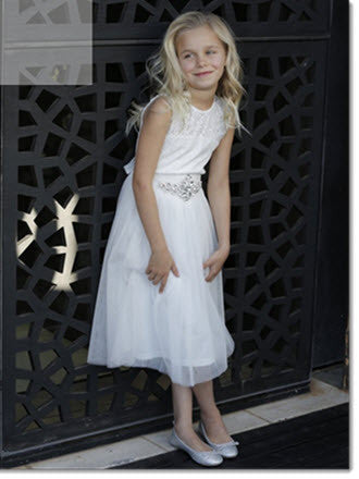 Audrey Lace Bodice Dress - Little Angels Couture - 1