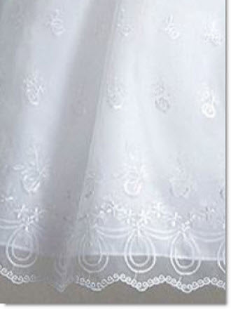 BC 231 Embroidered organza Christening Gown