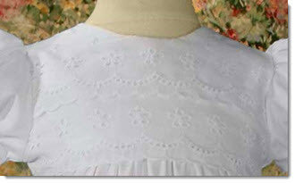 Cotton Gown with Eyelet Lace Border - Little Angels Couture - 2