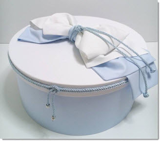 Christening Box - Baby Blue/ White - Little Angels Couture - 1
