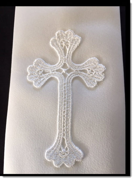 Baptism stole with Cross Applique
