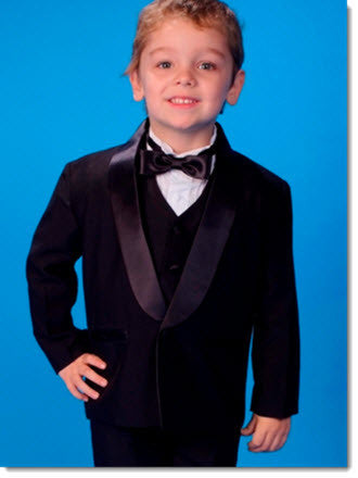 Boys 5 Piece Tuxedo without tails - Little Angels Couture - 1