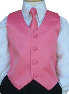 4 Piece Satin Vest Sets - Little Angels Couture - 1