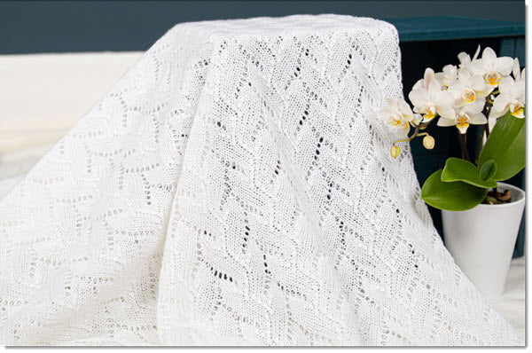 Lacy Cotton Baby Shawl